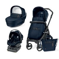 Pack poussette trio book 51 i-size black gold/rock navy