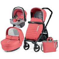 Poussette combiné trio book plus pop up completo breeze corail