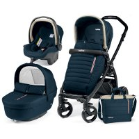 Poussette combiné trio book plus pop up completo breeze blue