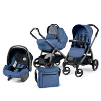 Poussette combiné trio book s jet sportivo hamac pop up mod bluette