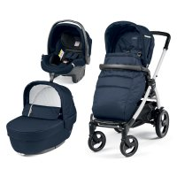 Pack poussette trio book 51s sportivo blanc nacre/class navy