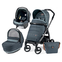 Pack poussette trio book s jet completo hamac pop up blue denim