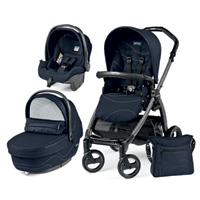 Poussette combiné trio book s jet pop up sportivo bloom navy