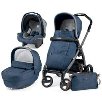 Pack poussette trio book plus s jet pop up completo urban denim