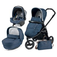 Pack poussette trio book scout 3 roues pop up completo urban denim