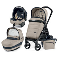Poussette combiné trio book plus pop up completo luxe beige