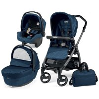 Poussette combiné trio book plus s jet pop up sportivo géo navy
