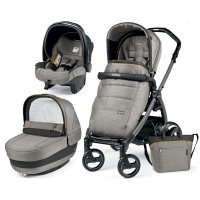 Pack poussette trio book plus s jet pop up completo luxe grey