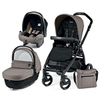Pack poussette trio book plus pop up sportivo bloom beige