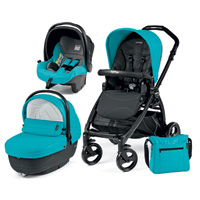 Poussette combiné trio book plus pop up sportivo bloom scuba