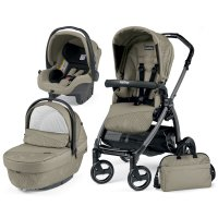 Pack poussette trio book plus s jet pop up sportivo géo beige