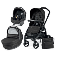 Poussette combiné trio book plus pop up sportivo bloom black