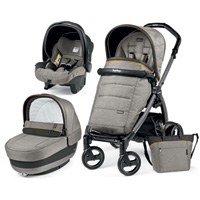 Poussette combiné trio book s jet pop up completo luxe grey