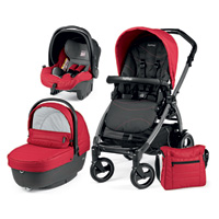 Poussette combiné trio book 51 s jet pop up sportivo bloom red