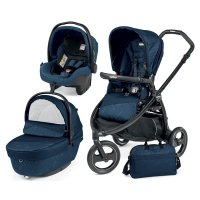 Pack poussette trio book scout 3 roues pop up sportivo géo navy
