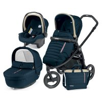 Pack poussette trio book scout 3 roues pop up completo breeze blue