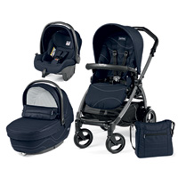 Poussette combiné trio book 51 s jet pop up sportivo bloom navy