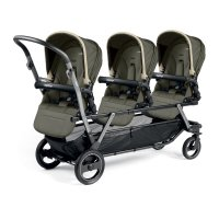 Poussette triple piroet pop up completo breeze kaki