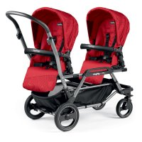 Poussette double duette piroet pop up sportivo géo red