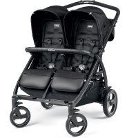 Poussette double book for two class black