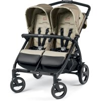 Poussette double book for two class beige