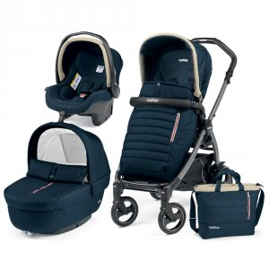 Poussette combiné trio book 51 s jet pop up completo breeze blue