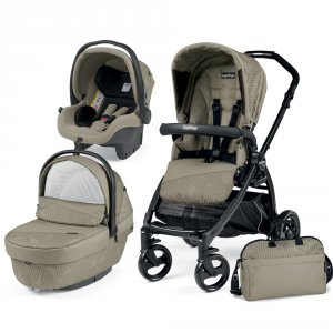 Poussette combiné trio book plus pop up sportivo geo beige