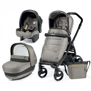 Poussette combiné trio book plus pop up completo luxe grey