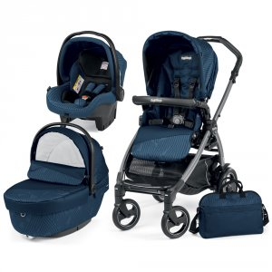 Poussette combiné trio book 51 s jet pop up sportivo géo navy