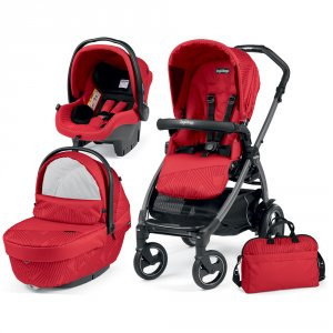 Poussette combiné trio book 51 s jet pop up sportivo géo red