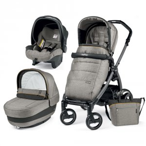 Poussette combiné trio book plus s jet pop up completo luxe grey