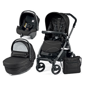 Poussette combiné trio book 51 s jet pop up sportivo bloom black