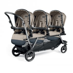 Poussette triple piroet pop up completo luxe beige