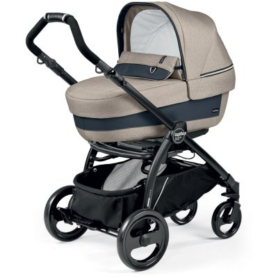 Pack poussette trio book plus pop up completo luxe beige Peg perego