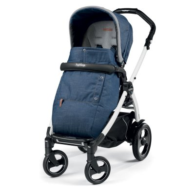 Pack poussette trio book 51 s black/ white pop up completo urban denim Peg perego