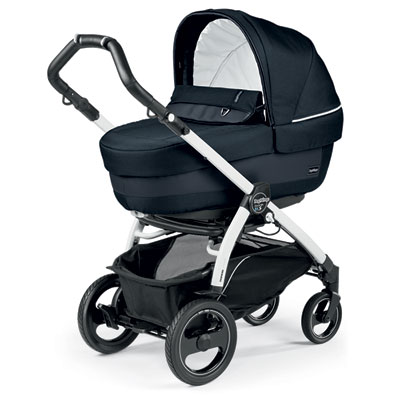 Pack poussette trio book 51 s black/white pop up completo luxe blue night Peg perego