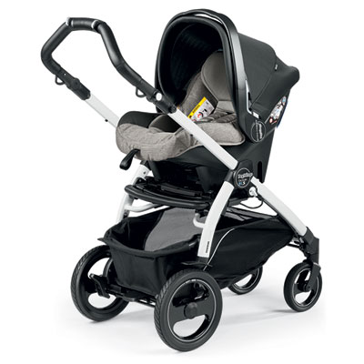 Pack poussette trio book 51 s black/white pop up completo luxe grey Peg perego
