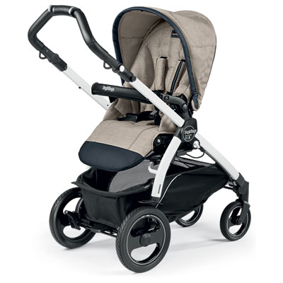 Pack poussette trio book 51 s black/white pop up completo luxe beige Peg perego