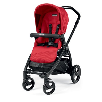 Pack poussette trio book plus pop up sportivo geo red Peg perego