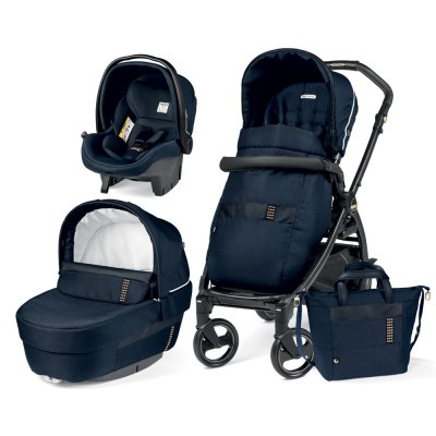 Pack poussette trio book 51 sl black gold/rock navy Peg perego