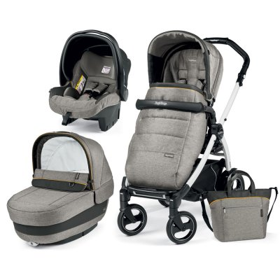 Pack poussette trio book 51 s black/ white pop up completo luxe grey Peg perego