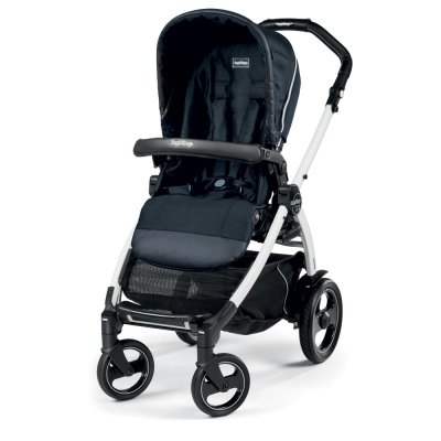 Pack poussette trio book 51 s black/ white pop up completo luxe blue night Peg perego