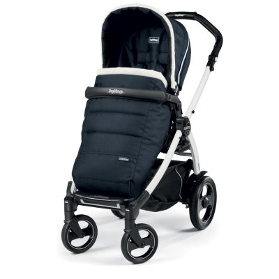 Pack poussette trio book 51 s black/ white pop up completo luxe blue Peg perego