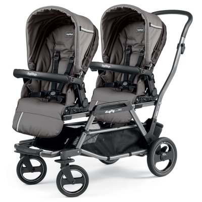 Poussette double duette piroet pop up sportivo class grey Peg perego