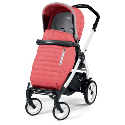 Pack poussette trio book 51 s black/ white pop up completo breeze corail Peg perego