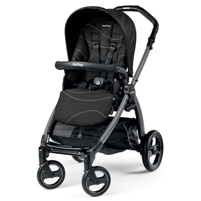 Pack poussette trio book s jet hamac pop up bloom black Peg perego