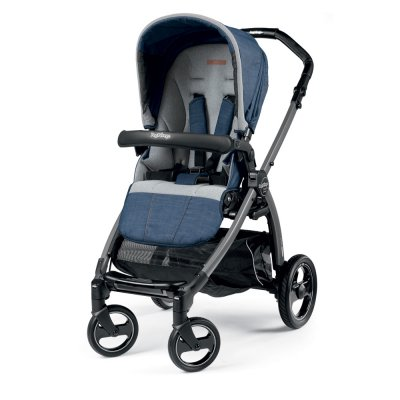 Pack poussette trio book plus s jet pop up completo urban denim Peg perego