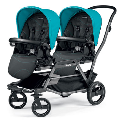 Poussette double duette piroet pop up bloom scuba Peg perego