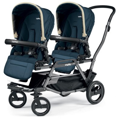 Poussette double duette piroet pop up completo breeze blue Peg perego