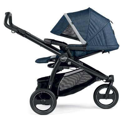 Pack poussette trio book scout 3 roues pop up completo urban denim Peg perego
